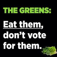 greens eat not vote